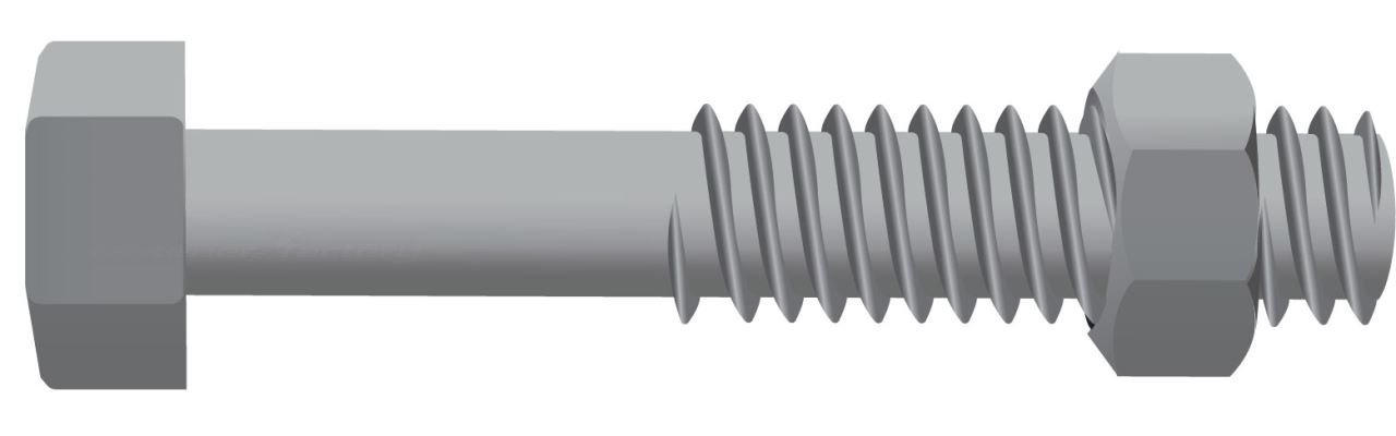 Galvanised Hex Head Bolts 4.6