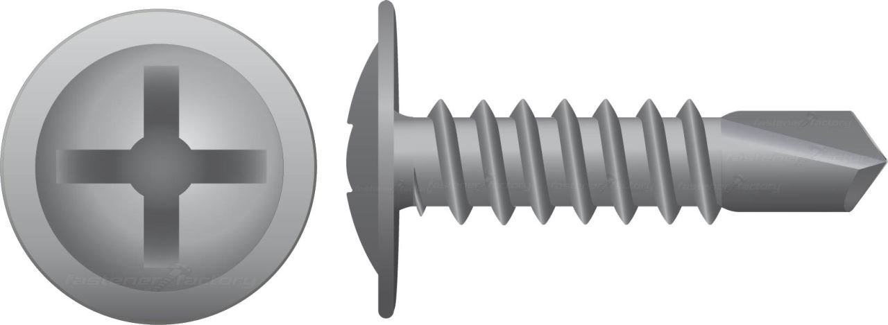 Galvanised Button Self Drilling Screws