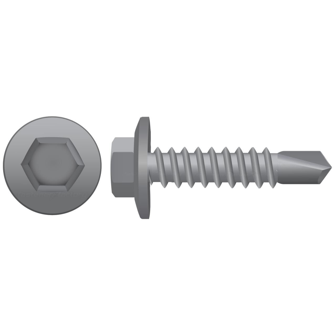 Galvanised Hex Self Drilling Screws