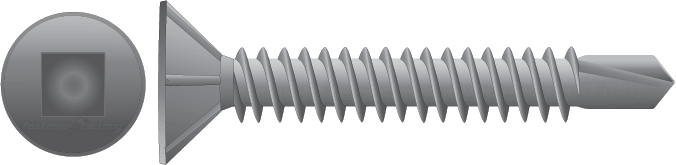 Galvanised Countersunk Self Drilling Screws