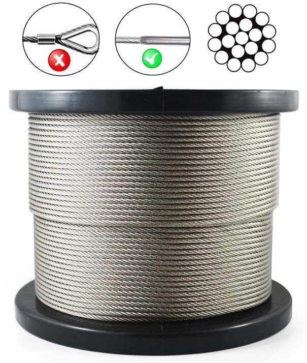 Stainless Steel (316) Wire Rope  1x19 Config