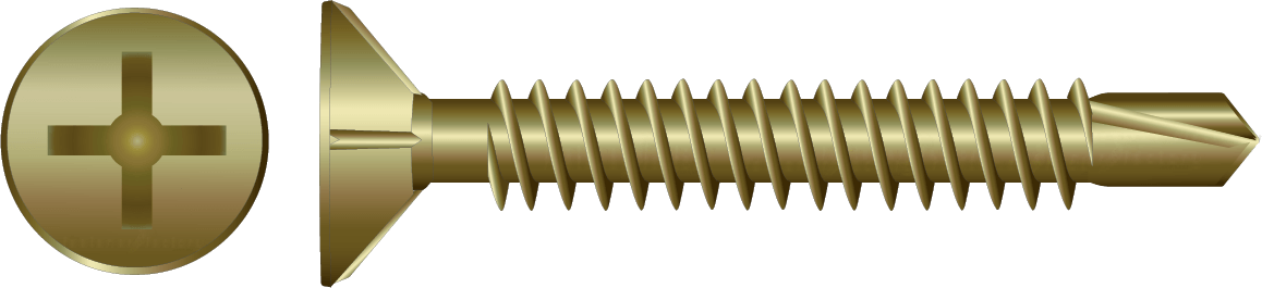 Zinc Countersunk Self Drilling Screw