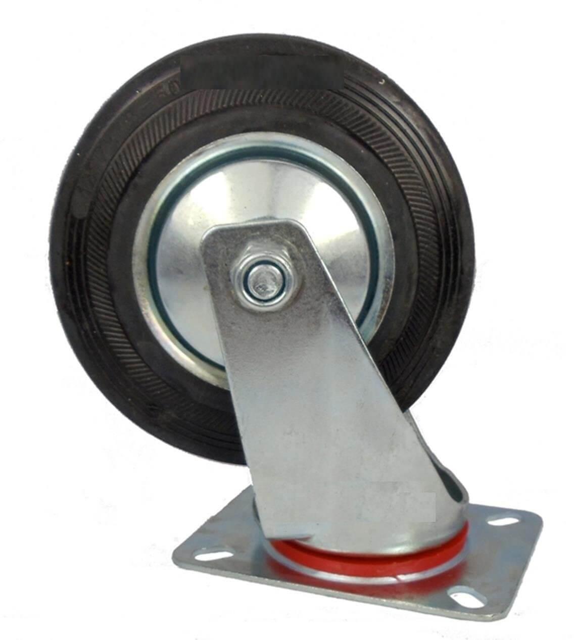 Plate Mounted Swivel Rubber Castors