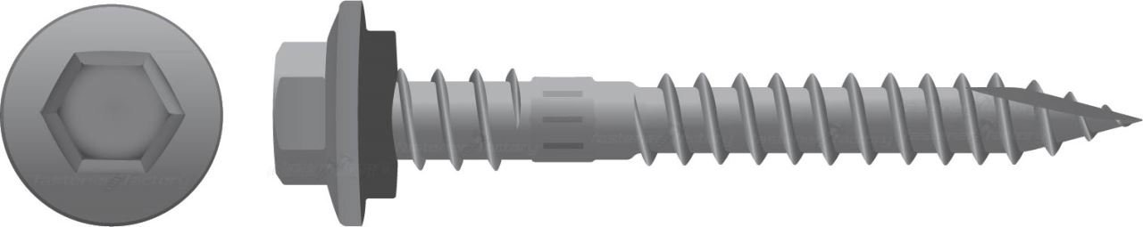 Galvanised Roofing Screws Timber